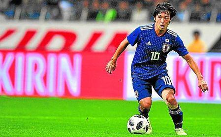 Shoya Nakajima, con la selección de su país, Japón.