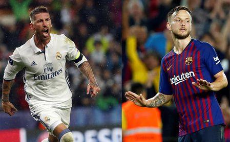 En las redes se comparan las celebraciones de Ramos y Rakitic contra el Sevilla FC.