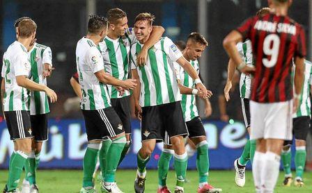 El Betis se ha impuesto en 4 de sus 5 partidos al Milan.