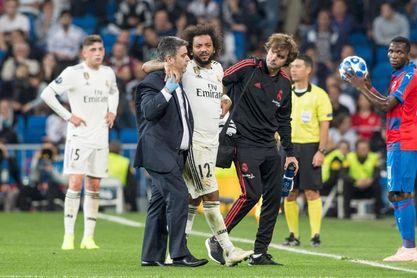 Marcelo se retira lesionado con molestias en el tobillo derecho