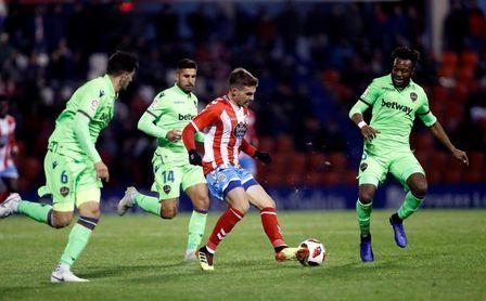 1-1. El Lugo de Monteagudo planta cara al Levante en la Copa