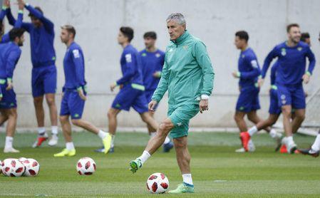 Setién, sobre Rafinha, Messi, Lo Celso o el presunto interés del Barça