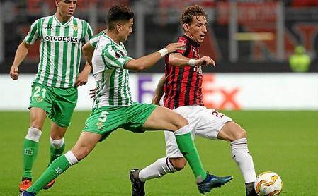 Máxima igualdad entre Betis y Milan, según las apuestas