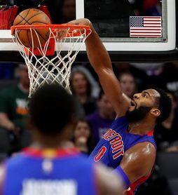 96-103. Drummond aporta doble-doble en la victoria de los Pistons