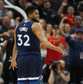 121-104. Towns consolida a los Timberwolves como equipo ganador