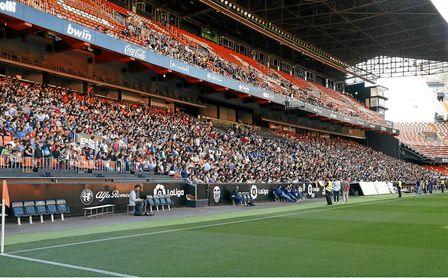 Entrenamiento del Valencia en Mestalla.