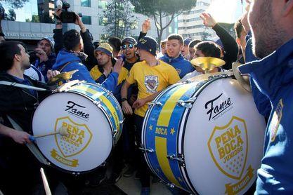 Color e ilusión en el multitudinario ´banderazo´ de Boca Juniors