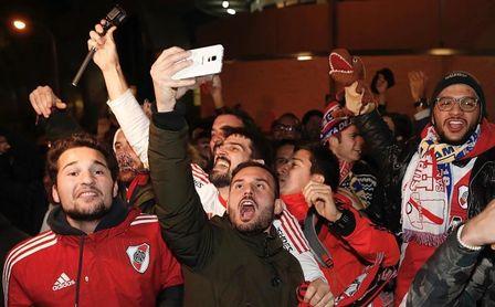River Plate disfruta de su resaca triunfal en Madrid antes de ir a Abu Dabi.