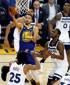 116-108. Curry, Thompson y Durant mantienen ganadores a los Warriors