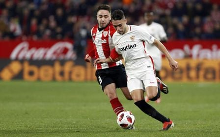 Munir, en un lance del partido ante el Athletic.