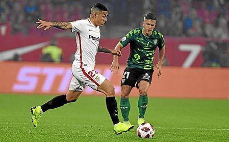 El brasileño Guilherme Arana, durante un partido de Copa del Rey.
