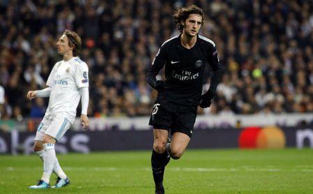 Rabiot, en un partido con el Paris Saint Germain.