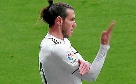Celebración polémica de Bale en el Wanda