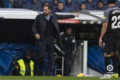 Machín, técnico del Sevilla, en un partido de Liga.