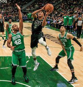 98-97. Antetokounmpo y Middleton dan a Bucks la victoria en duelo con Celtics