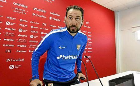 Pablo Machín, durante un rueda de prensa.