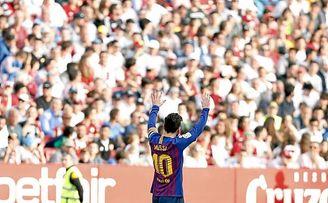 Messi reinó en el Sánchez-Pizjuán.