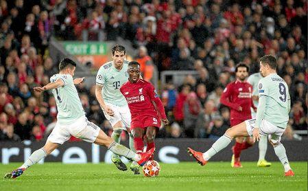 Partido de ida entre el Liverpool y el Bayern