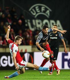 Slavia y Sevilla se van a la prórroga (2-2)