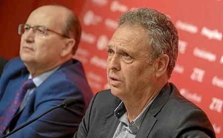 Joaquín Caparrós, durante la rueda de prensa.