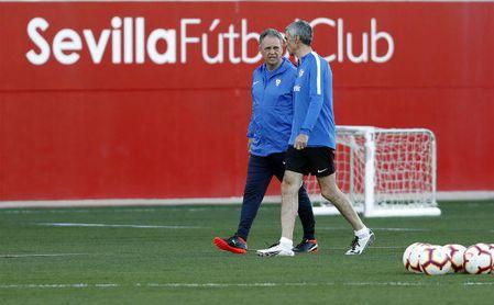 Joaquín caparrós ya entrena con su nuevo cuerpo técnico
