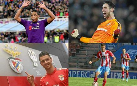 Muriel, Sergio Rico, Corchia y Aburjania, cedidos por el Sevilla FC.