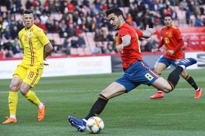 1-0. España, con más fútbol que pegada, ganó con un gol de Mikel Merino