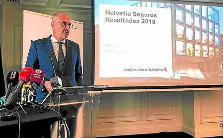 Íñigo Soto, director general de Helvetia Seguros, ayer en la presentación de resultados a los medios.