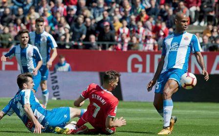 1-2. El Espanyol da un paso de gigante hacia la salvación a costa del Girona
