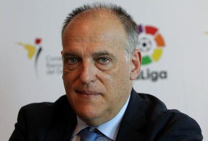 Tebas pide una unión de ligas nacionales contra la nueva Liga de Campeones