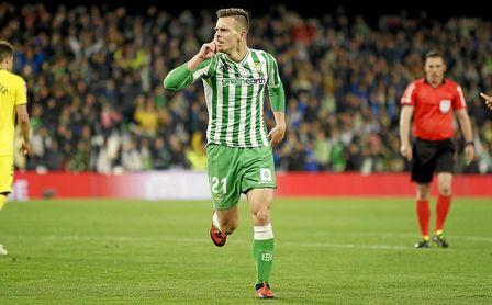 Lo Celso, celebrando un gol.