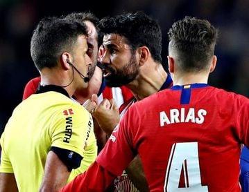 Diego Costa hace berrinche en el Atlético de Madrid
