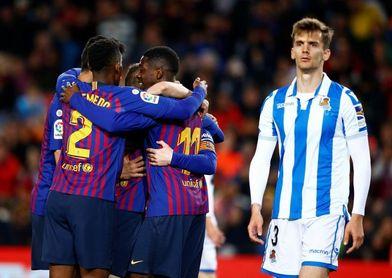 2-1. La solvencia sin brillo sitúa al Barcelona a dos suspiros del título