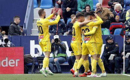 2-2. El Levante sobrevive a dos ventajas del Espanyol y una expulsión