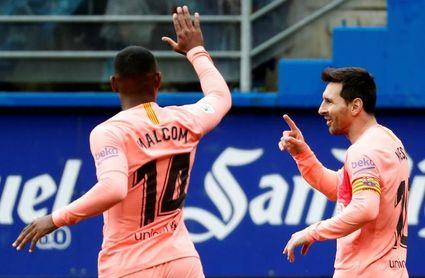 2-2. El Eibar choca con Messi