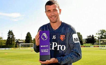 Javi Gracia ganó el trofeo de Entrenador del Mes en la Premier League.