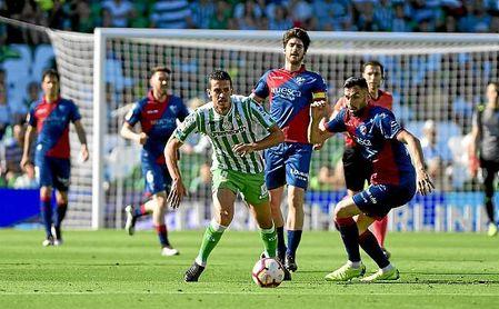 Imagen del Betis-Huesca en el que el conjunto bético ganó por 2-1.