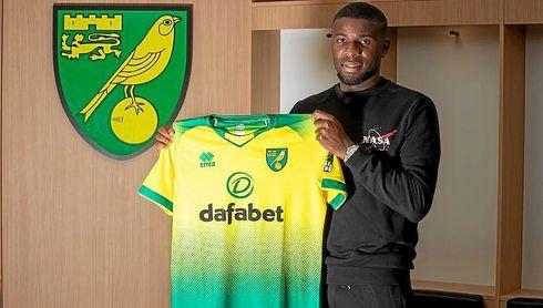 Amadou, con la elástica del Norwich City.