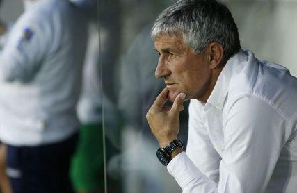 Setién, durante su etapa como entrenador del Betis.