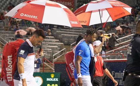 Suspendido el partido en Montreal entre Monfils y Bautista por la lluvia