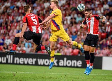 1-0. Aduriz, eterno, tumba al Barça con un gol de antología