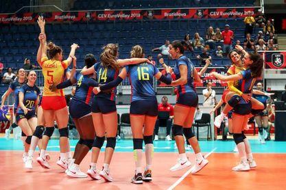 España estrena su casillero de victorias al ganar a Bielorrusia (3-1)