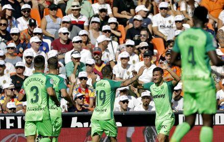 1-1. Un Valencia incapaz no puede con la defensa del Leganés