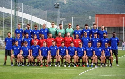 """Garitano: """"Larrazabal tiene gol, no tenemos muchos jugadores así"""""""
