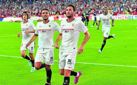 El Mudo, celebrando un gol.