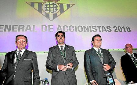 Imagen de la última junta general de accionistas del Betis.
