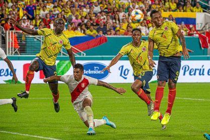 1-0. Colombia derrota a Perú en el último suspiro