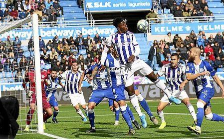 Salisu, en el Getafe-Valladolid de esta temporada.