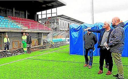 Municipal As Eiroas, estadio del Bergantiño, que ya había iniciado las obras de acondicionamiento.