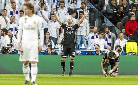 Ziyech dio una auténtica exhibición en el Bernabéu, en un partido de Champions.